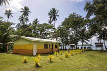 tropical multicolored cabin