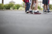 feet of children at recess