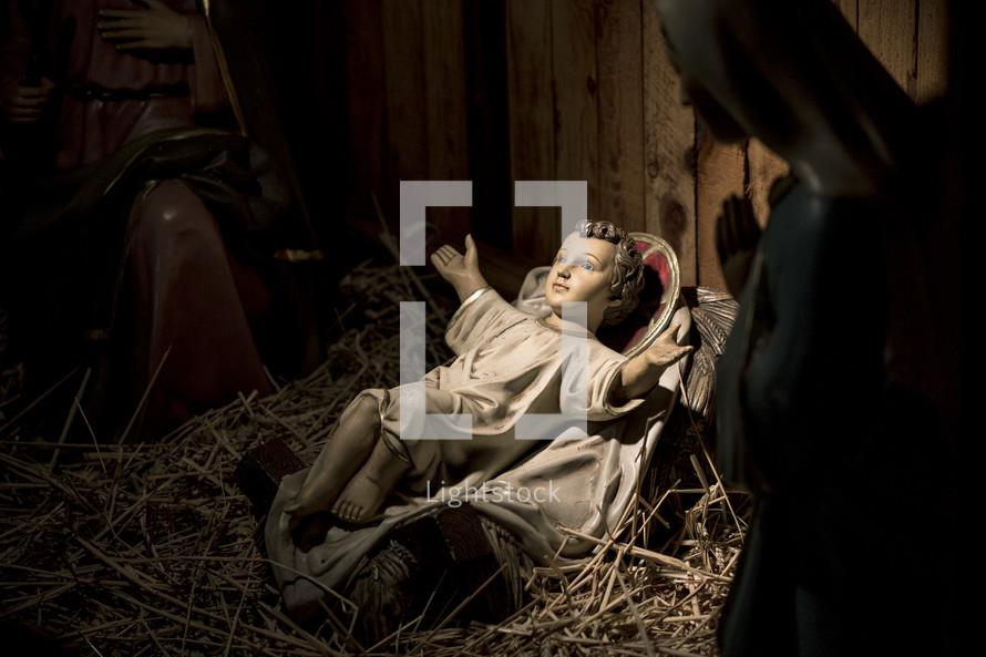 nativity baby Jesus in a manger