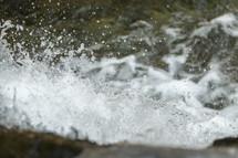 splashing water