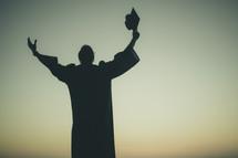 silhouette of a graduate