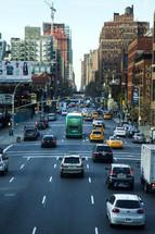busy New York city street