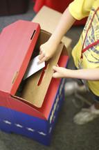 school election ballot box