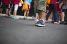 feet of children