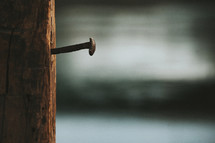 nail on a cross
