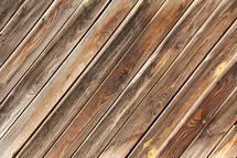 Diagonal wooden floor