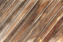 Diagonal wooden floor