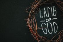 Lamb of God and crown of thorns