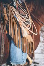 ropes on a saddle