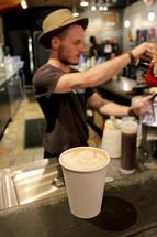 a barista in a coffee shop