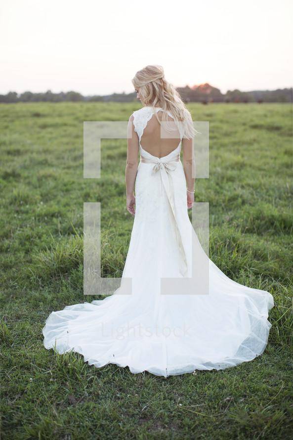 bridal portrait outdoors