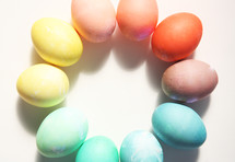 dyed pastel Easter eggs