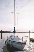 yacht at a marina