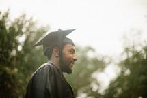side profile of a graduate