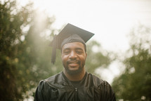 head shot of a male graduate
