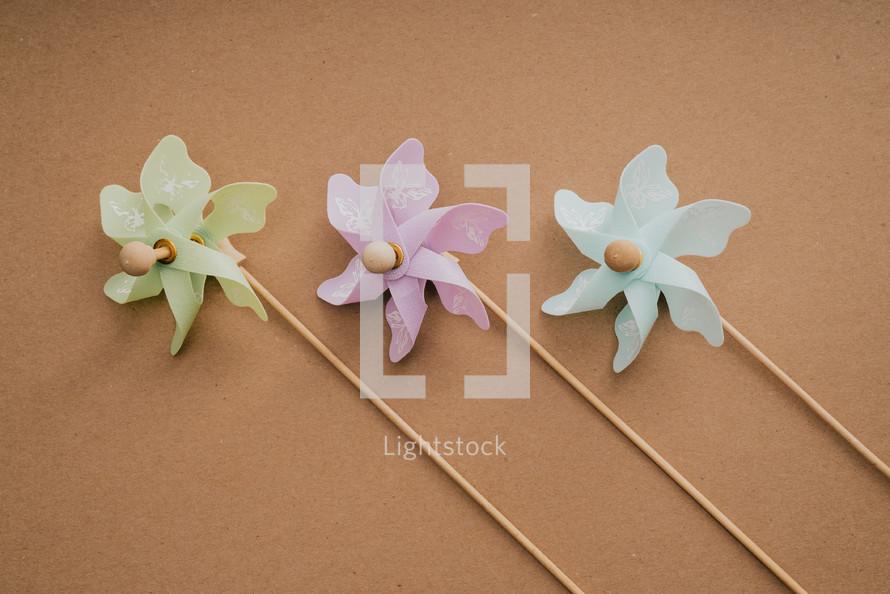 pastel pinwheels