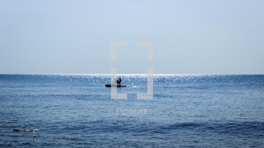 boat on water and waves