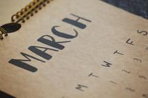 March on a calendar.
