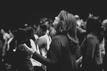 a congregation praising God