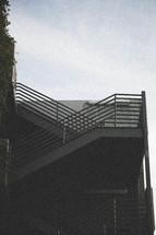 an outdoor stairway