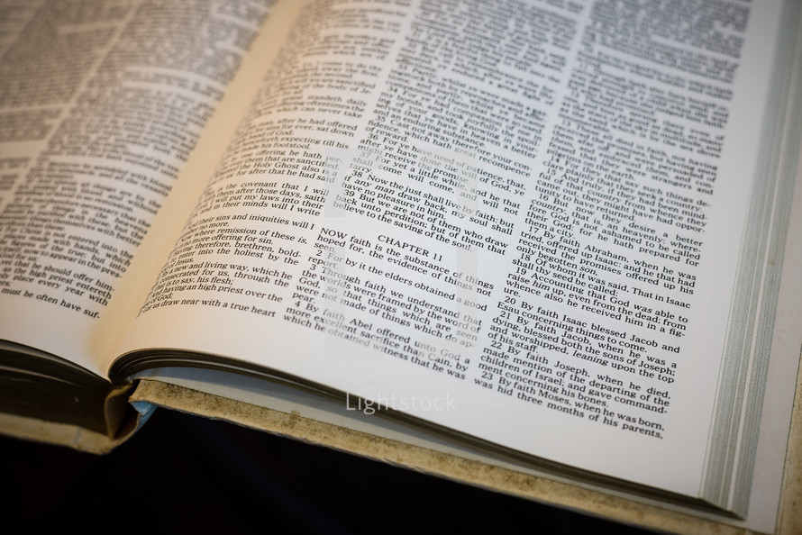 pages of an opened Bible