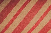 Close up of a roll of Christmas wrapping paper