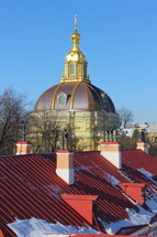 gold cross on a Russian Orthodox cathedral dome