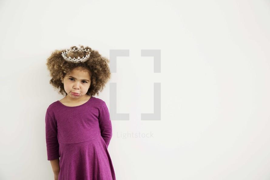 girl child in a tiara