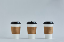 three coffee cups