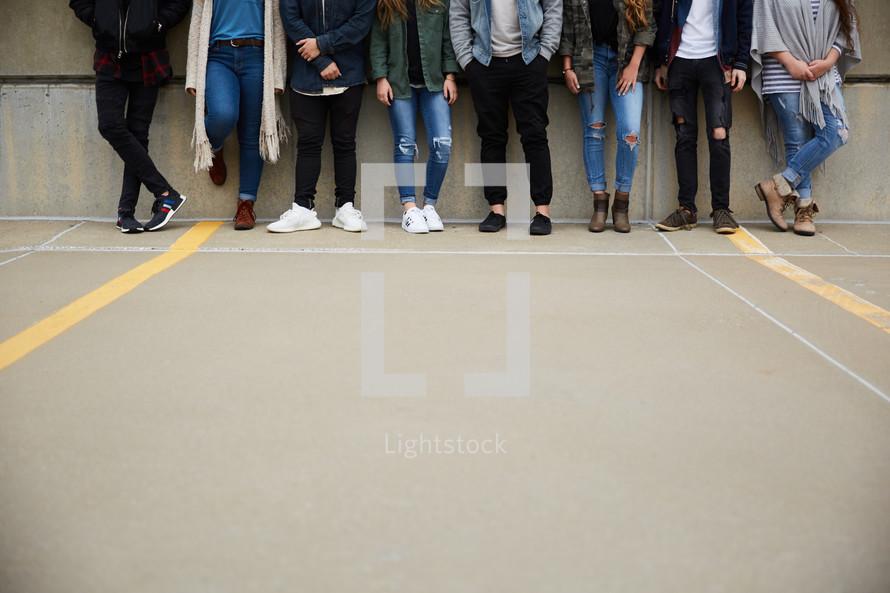 legs of teens