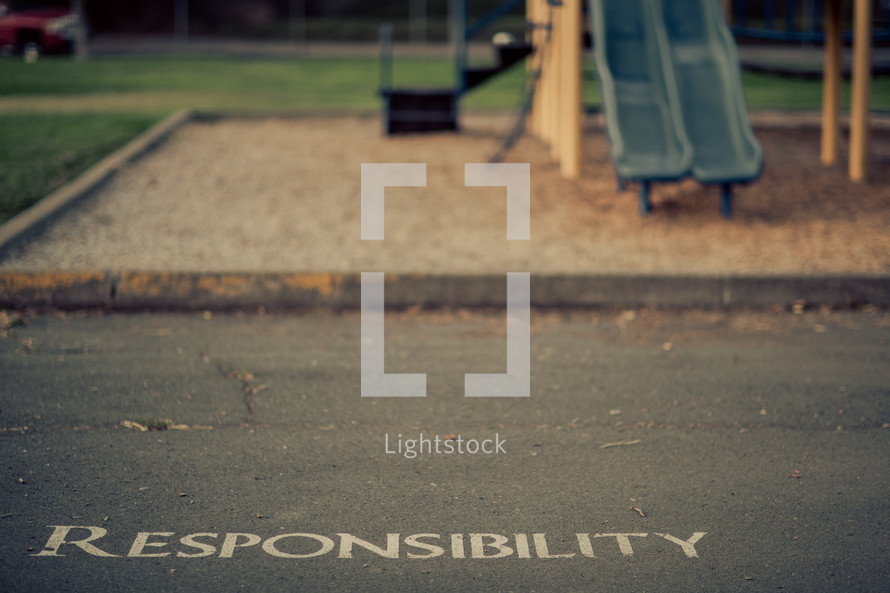 responsibility, school, playground, children, child, family, students, word