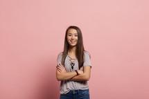 a smiling teen girl