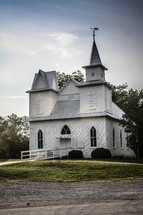 Country church house.