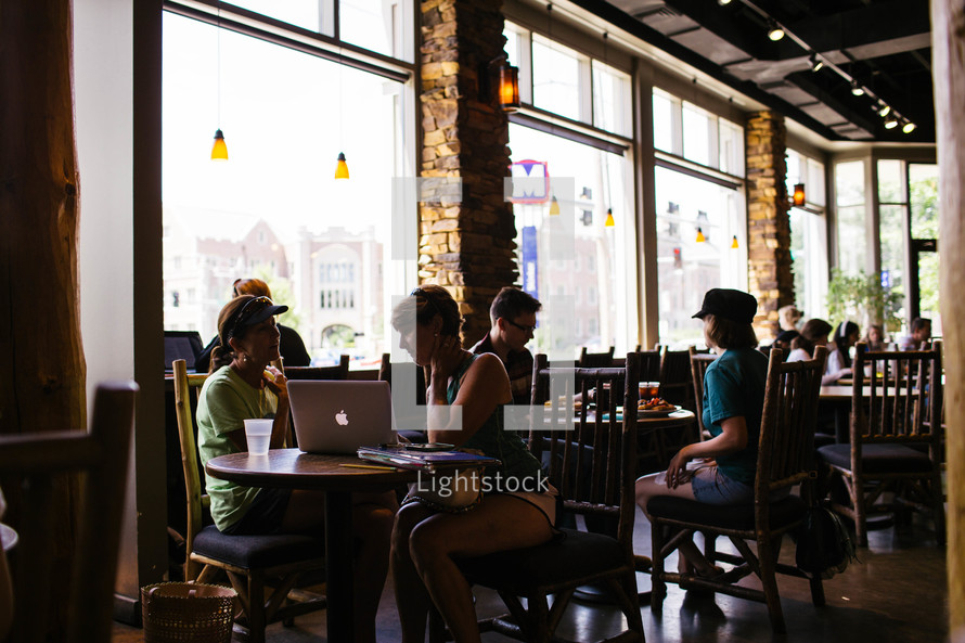 conversations in a restaurant