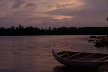 canoe on a shore