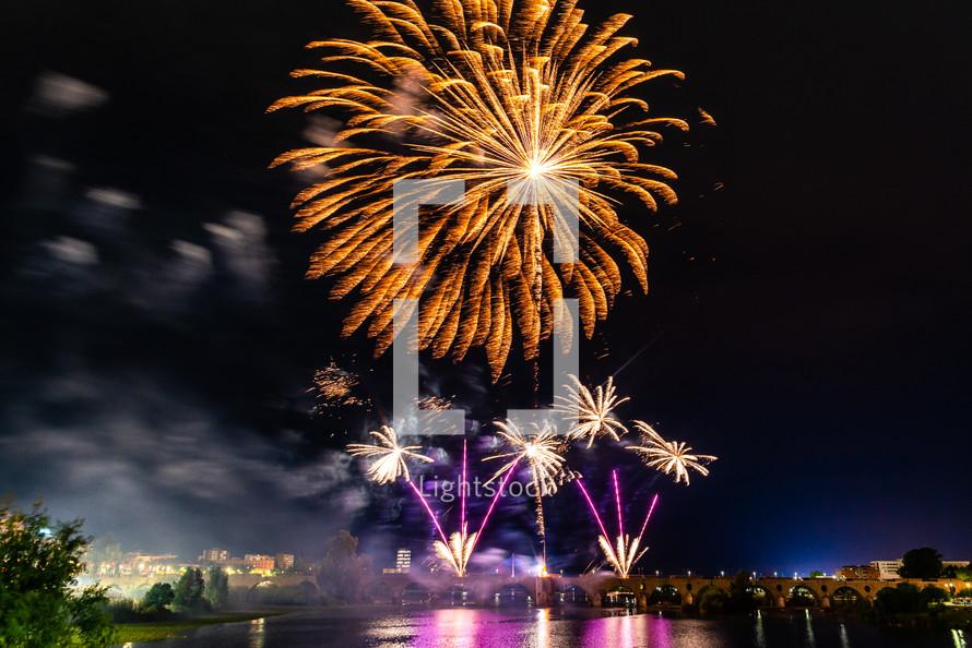 San Juan Fireworks 2019 Badajoz Extremadura Spain