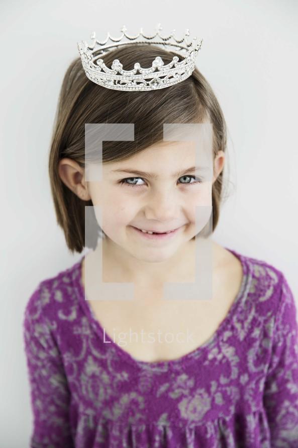 little girl in a tiara