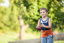 boy child with a football