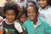 faces of smiling children
