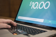 online giving on a laptop