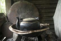 Rustic tea pot.