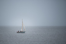 sailing on an overcast day