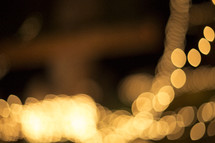 bokeh strand of Christmas lights