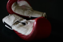 boxing gloves on a mat