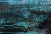 turquoise on metal