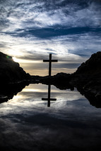 tide pool and cross
