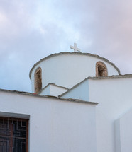 white church in Greece