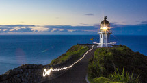 light from a lighthouse
