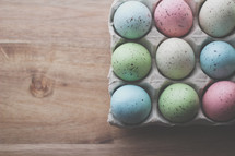 dyed speckled Easter eggs