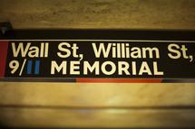 9/11 memorial sign